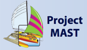 Image: Ship with text for project MAST